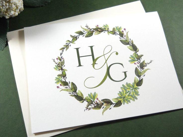 Monogram stationery. Custom stationery sets | Couples stationery |Wedding gift stationery