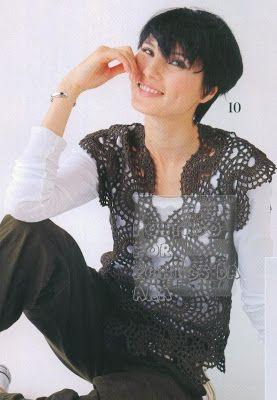 Colete feminino com gráfico de cachecol