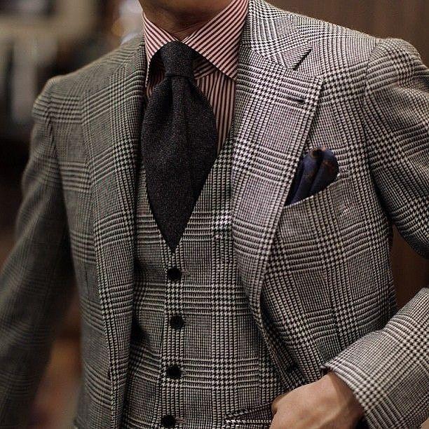 Three piece suit style