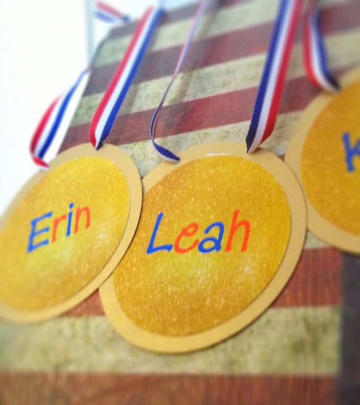 Gymnastics birthday party favor tags or invitations