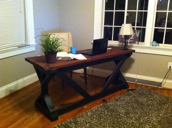 Office Desk Diy: Rustic Desk DIY Plans