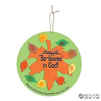 christian preschool crafts | Fall leaf | christian preschool crafts/lessons