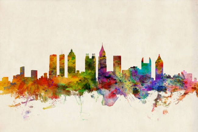 """Atlanta Georgia Skyline"" by Michael Tompsett."