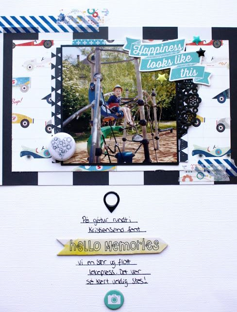 "Andrine og Marens Landhandleri - Blog - ""Happiness looks like this"" layout created by Dt Stine."
