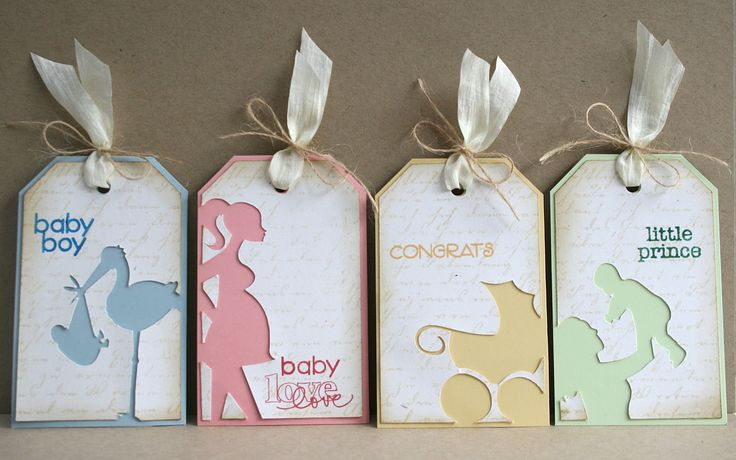 Baby Tag set - Just Visiting **Great card idea**
