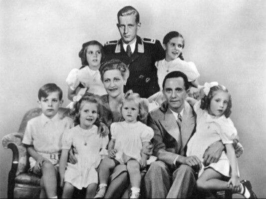 Goebbels family.  Only the eldest son survived the war. Magda and Joseph poisoned their six younger children,  before killing themselves.  This was their refusal to fall into the Allies hands.