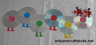 Rups van cd's