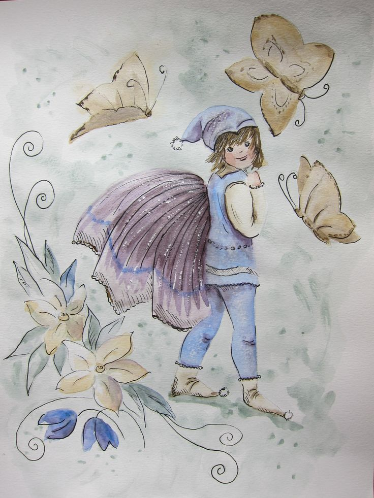 Cathrine's Fairy Boy with Butterflies