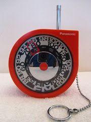 OBJECT <> PLASTIC: RF-93 Rolling Tone portable transistor radio   Panasonic, Japan