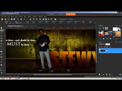Corel Paint Shop Pro X6 Tutorial (FULL HD) - Graphic Design, Lighting and Shadows - YouTube