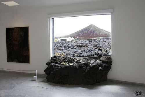 force of nature into home;César Manrique House Lanzarote