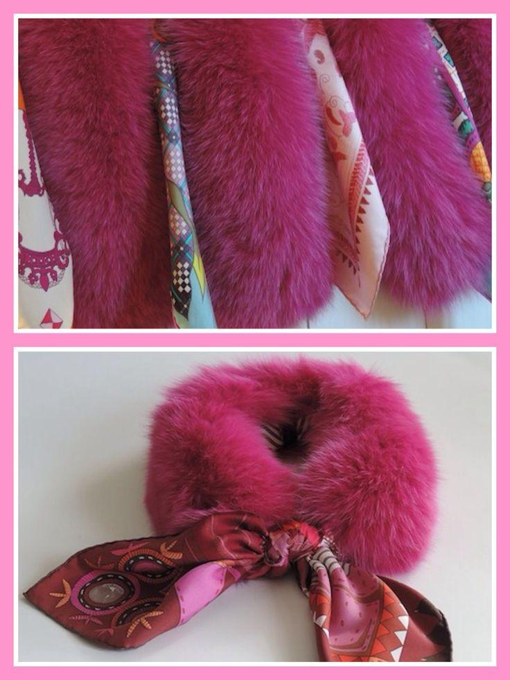 MaiTai SAGA fox fur collar in Fuchsia