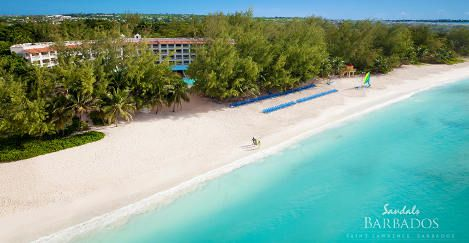 Sandals Barbados Resort is an all inclusive escape to white sand beaches, watersports, romantic dining and gourmet drinks galore...this is a true all inclusive.