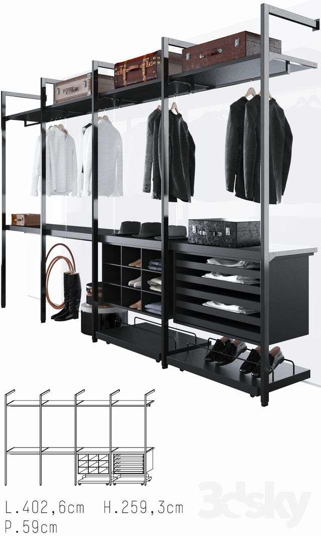 3d models: Clothes and shoes - Porro Storage