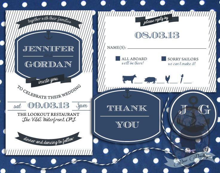 Deer Darling | Navy & White | Wedding Stationery www.deerdarling.co.za