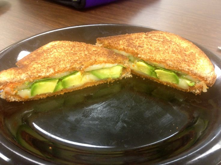 I attempted the Green Goddess grilled cheese! Pesto, mozarella, baby spinach and avocado