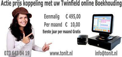 E-Cash actie: Ecash koppeling met uw Twinfield online boekhouding