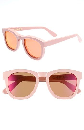 Trends Wildfox 'Classic Fox - Deluxe' 50mm Sunglasses Pink One Size