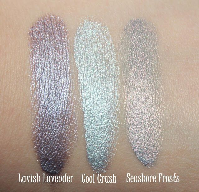 **Maybelline Color Tattoo 24Hr Eyeshadow - Lavish Lavender; Cool Crush; Seashore Frosts (LE Summer 2013 Collection) / TheDarkSideOfBeauty