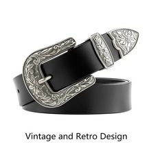 JASGOOD Women Belt Vintage Genuine Leather Belts for Women Fashion Flower Waist Belt Ceinture Femme riem kemer gg belt //FREE Shipping Worldwide //
