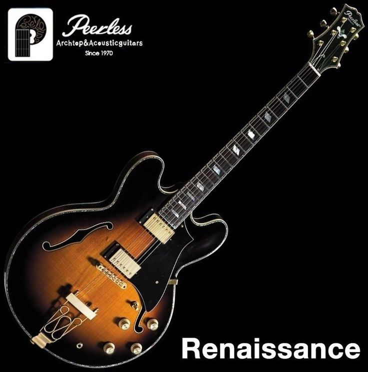 Peerless Renaissance Semi Hollow Body Arch Top Jazz Electric Guitar #Peerless