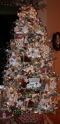 Christmas village tree LOVE!