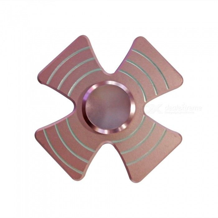 Dayspirit Four Leaves Stress Relief Finger Gyro Rotator - Rose Gold with Free Shipping