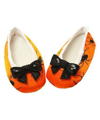 Another great find on #zulily! Orange & Black Spider Ballet Flat #zulilyfinds