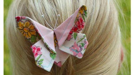 Tutorial: Origami fabric butterflies