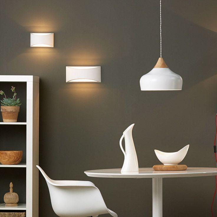 Dar lighting gaucho pendant light in white gloss fitting type from dusk lighting uk