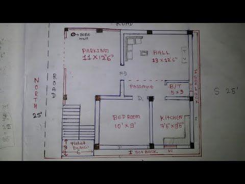20 X 30 ( 25 X 27 ) North East House Plan Walk Through