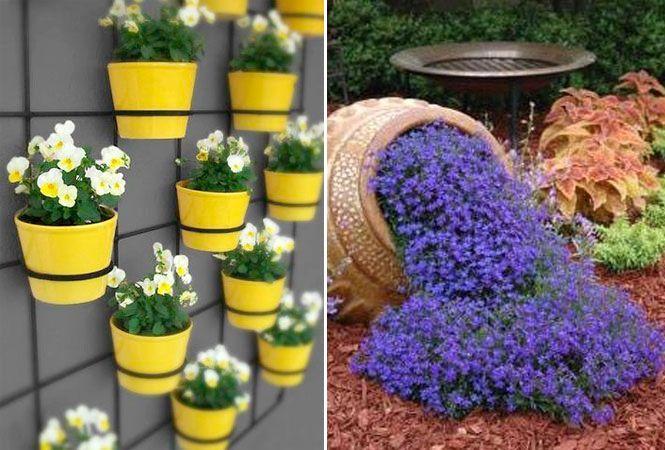 Decoraç u00e3o de Jardins Ideias e fotos incríveis para copiar! # Jardins Decorados Com Pneus