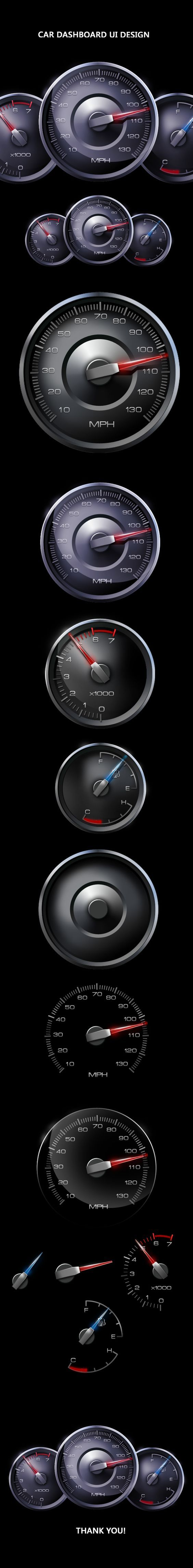 Car Dashboard Ui Design by Mahesh Lonkar, via Behance: