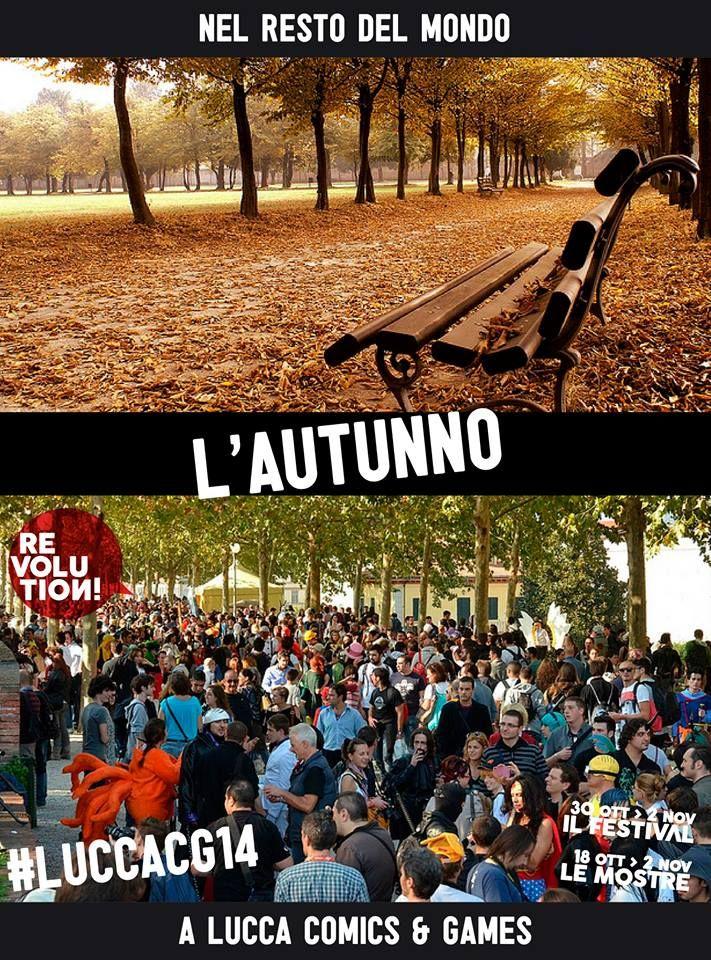 Lucca Comics 2014: in autunno ( ripreso dalla pagina Facebook di Lucca Comics 2014)