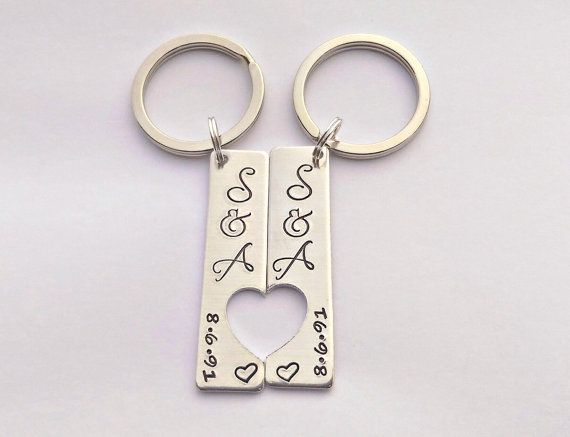 Hand stamped personalised couples his and by EmsStampedJewellery