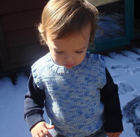 Baby - Toddler Vest - free knitting pattern for baby - toddler sweater - Crystal Palace Yarns