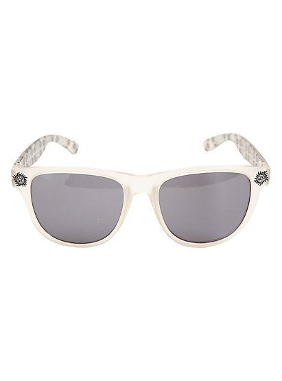 Supernatural Join The Hunt Anti-Possession Symbol Frosted Retro SunglassesSupernatural Join The Hunt Anti-Possession Symbol Frosted Retro Sunglasses,