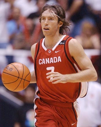 """Steve Nash - """"best basketball player to come out of Canada"""". Eight-time All-star. Five-time assists leader. """"Best point guard"""""""