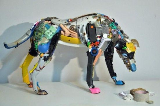 Italian Artist, Dario Tironi, Recycles Found Objects into Colorful Sculptures