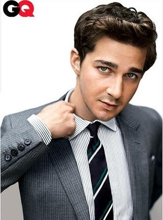 I LOVE me a man in suit and tie.  -Shia Labeouf