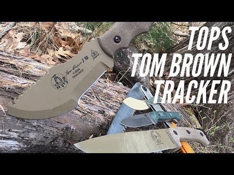 In Depth Review Tops Tom Brown Tracker Knife Survival Knife With Many Uses Youtube In 2020 Survival Knife Survival Knife