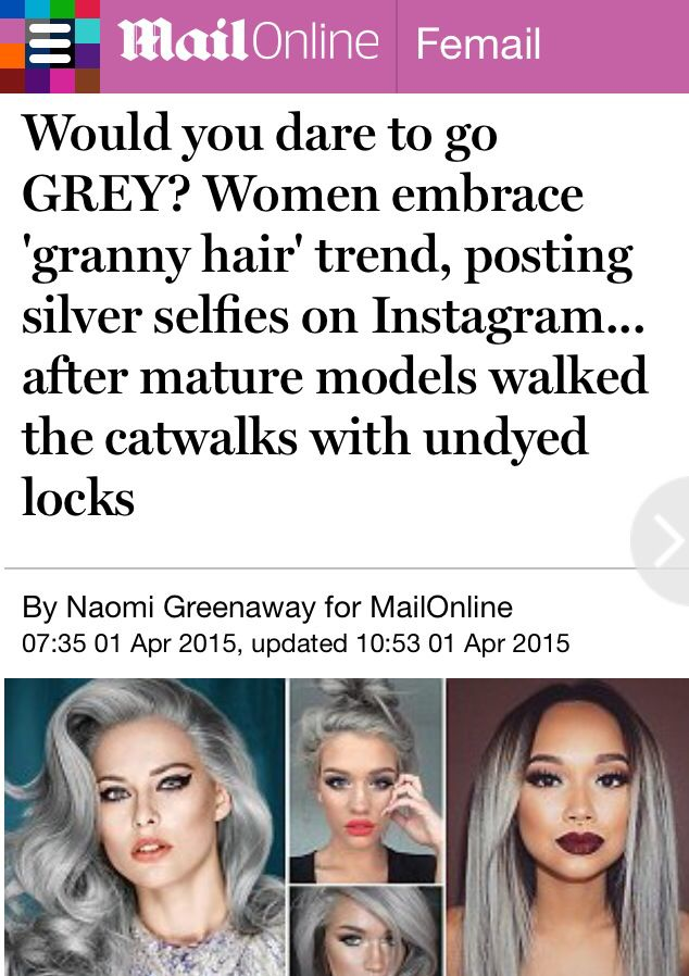 Silver hair is the hottest new colour trend! #silverhair #greyhair #hairdressers #tetbury #trend #fashion