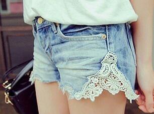 bayıldımmm!!: Style, Cute Ideas, Lace Jeans Shorts, Denim Shorts, Lace Shorts, Diy, Jeansshorts, Old Jeans