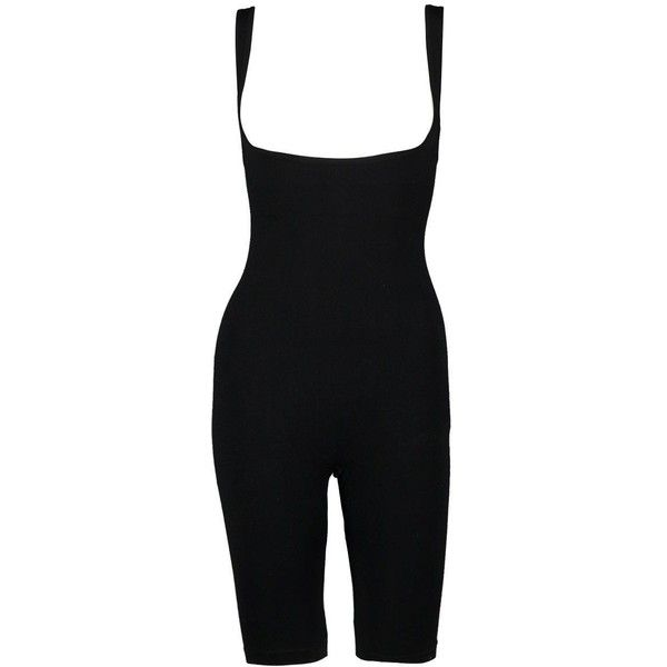 Boohoo Megan Under Bust Control Shapewear Body Suit ($18) ❤ liked on Polyvore featuring intimates, long-sleeve bodysuits and body suit