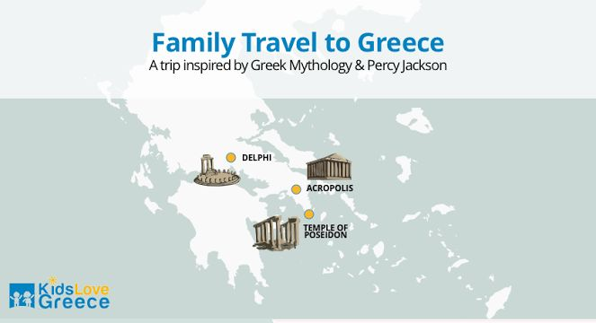 Family Travel Holiday Packages for Greece - 3-day Percy Jackson Greek Mythology Family Vacation Package / Kidslovegreece.com
