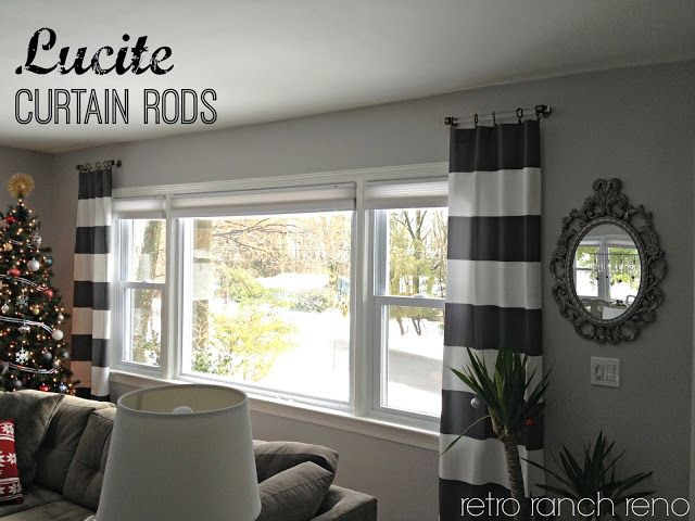 Lucite Curtain Rods..-Love the curtain rods as well as the 'short' length and just flanking the windows for decoration vs. needing to close them.