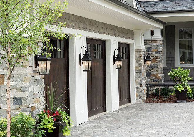 Fiberglass Garage Doors. Wood looking Fiberglass Garage Doors. Fiberglass Garage Doors #FiberglassGarageDoors Hendel Homes. Vivid Interior Design - Danielle Loven.   garage-door-fiberglass-wood-looking-garage-door