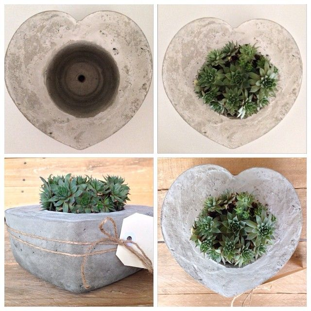 Our heart shaped planter in raw concrete. Like all our concrete planters, this is sealed, has a drainage hole and is suitable for inside or out. You can check this one out at @dowrystore!  #saltyshack #concreteplanter #concretepot #concretedecor #succulent #handmade #dowrystore