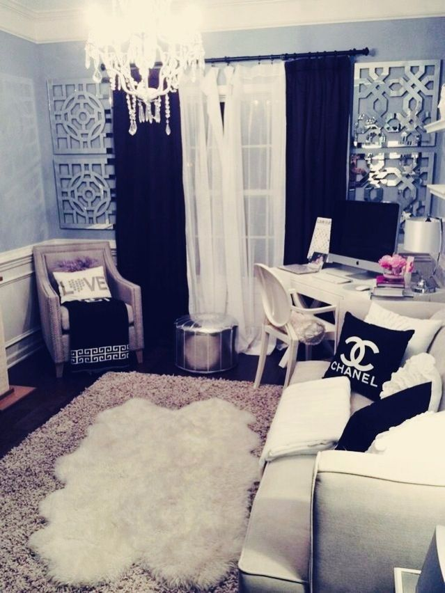 Cute decor! Love that Channel pillow! I also love the vibe that this room gives off!
