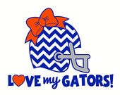 Florida Gators, Love My Gators, Chevron, Football SVG, DXF, Vector Files for Cricut, Silhouette, Vinyl Cutters and Screen Printing
